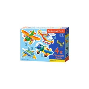 Puzzle Castorland 4 in 1 - Funny Planes, 3/4/6/9 Piese