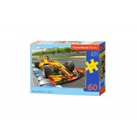 Puzzle Castorland - Racing Bolide on Track, 60 piese