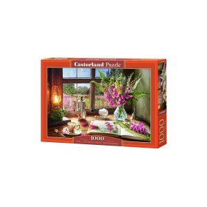 Puzzle Castorland - Still Life with Violet Snapdragons, 1.000 piese