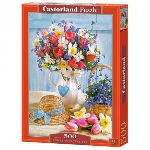 Puzzle Spring in Flower Pot, 500 piese