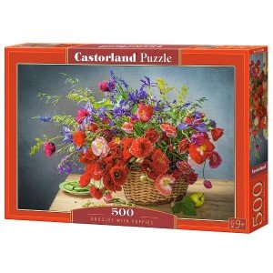 Puzzle Castorland Bouquet with Poppies, 500 piese