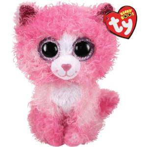 Pluș Pisica Roz Reagen, 15 Cm, Ty