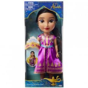 Păpușă Disney - Jasmine cu rochie mov, 38 cm