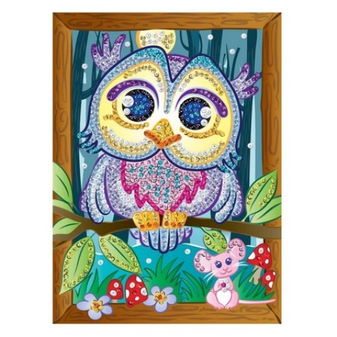 Set Creativ Smoogles - Bufnița Hoot, 25x34cm, Sequin Art