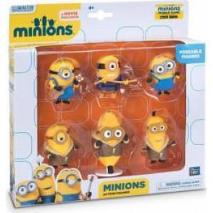 Set 6 minifigurine cu brațe articulate, Minions