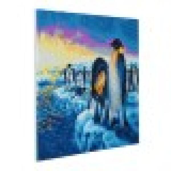 Set creativ tablou cu cristale Crystal Art Penguins of the Arctic 40x50cm Craft Buddy