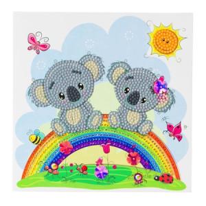 Set creativ tablou cu cristale Koala, 18x18 cm, Craft Buddy