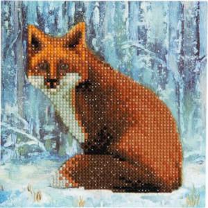 Set creativ tablou cu cristale Winter Fox 18x18cm Craft Buddy