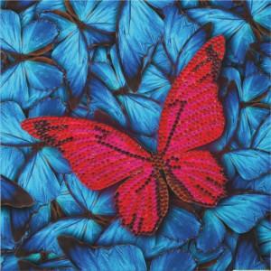 Set creativ tablou cu cristale Fluture 18x18cm Craft Buddy