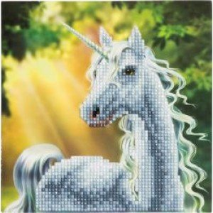 Set creativ tablou cu cristale Sunshine Unicorn 18x18cm Craft Buddy