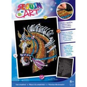 Set Creativ Blue Box - Cal 25x34cm Sequin Art