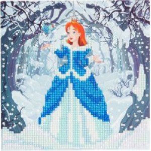 Set creativ tablou cu cristale Enchanted Princess 18x18cm Craft Buddy