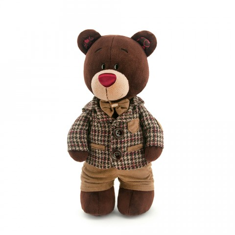 Choco Standing in a Checkered Jacket 25 cm