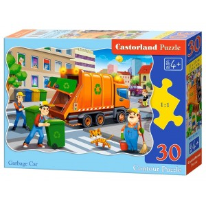 Puzzle Castorland - Garbage Car 30 piese