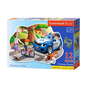 Puzzle Castorland Maxi - Policemen At Work, 12 piese