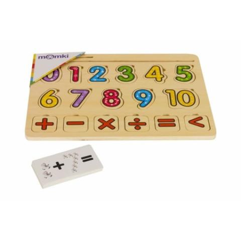 Puzzle Mozaic din lemn - Învățăm să numărăm