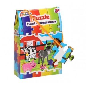 Puzzle Grafix, 30 piese, Ferma veselă