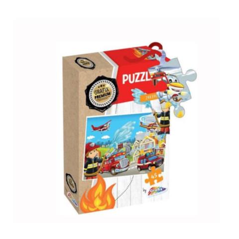 Puzzle Grafix, 45 piese, Pompieri