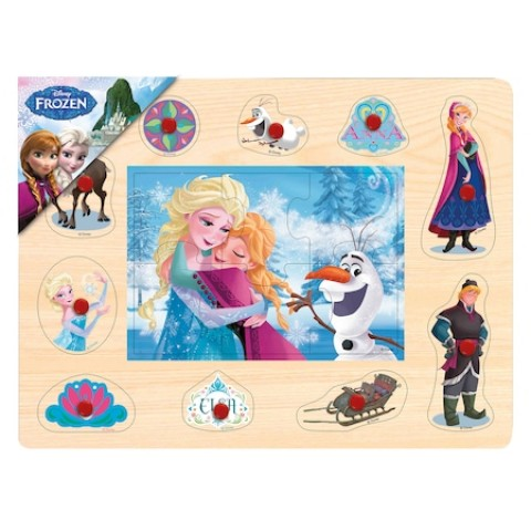 Puzzle Mozaic de lemn cu pins Frozen