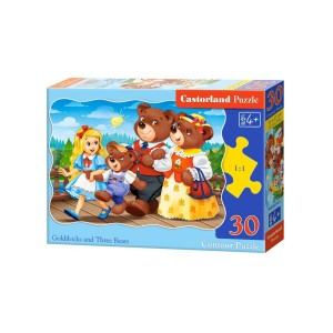 Puzzle Castorland - Goldilocks And Three Bears, 30 piese