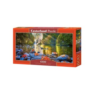 Puzzle Castorland Panoramic - Steamy Mornings, 600 Piese