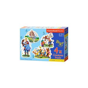 Puzzle Castorland - Snow White Story, 3/4/6/9 piese XXL
