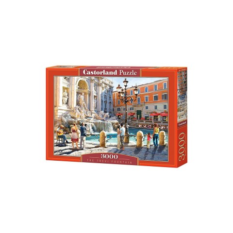 Puzzle Castorland -The Trevi Fountain, 3000 piese