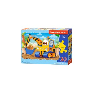 Puzzle Castorland - Yellow Digger, 30 Piese