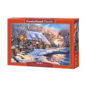 Puzzle Winter Cottage 500 piese
