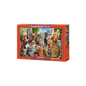Puzzle Castorland - House Of Cats, 2000 piese