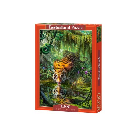 Puzzle Castorland Tiger In The Jungle 1000 piese