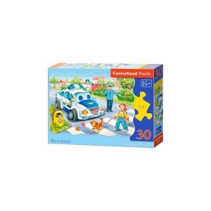 Puzzle Castorland - Way to School, 30 piese
