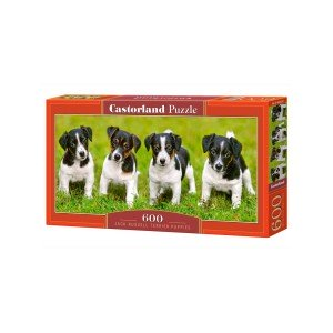 Puzzle panoramic Castorland - Jack Russell Terrier Puppies, 600 piese