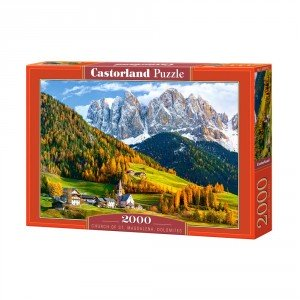 Puzzle Castorland Church of St. Magdalena, Dolomites, 2000 piese