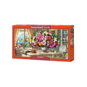 Puzzle Castorland - Summer Flowers And Cup Of Tea, 4000 piese